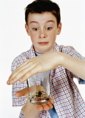 This is what I was like except as IF I would just use my hand to cover the glass. That kid is crazy.